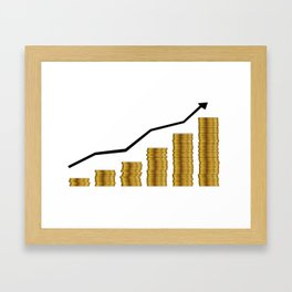 Rising Prices Framed Art Print