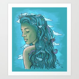 Siren of the Seas Art Print