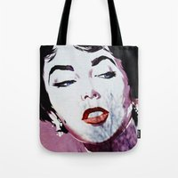 jenny liz rome Tote Bags featuring Liz by Alex Photography and Designs