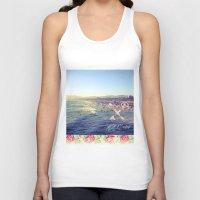 santa monica Tank Tops featuring Santa Monica Beach by Kurt Schawacker