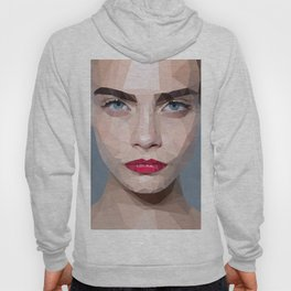 Cara Delevingne low poly portrait Hoody