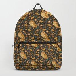 Autumn Folk Art Owl Backpack