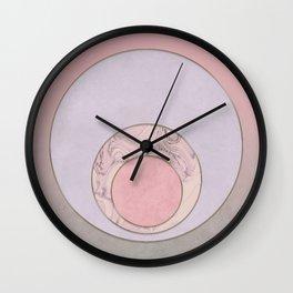 Soft Pastel Elegant Circles Wall Clock