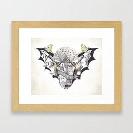 The Night Owl Society - Illustrated by Taren S. Black Framed Art Print