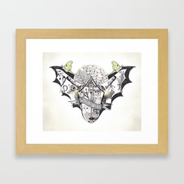 The Night Owl Society - Illustrated by Taren S. Black Framed Art Print