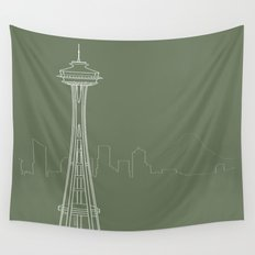 Seattle by Friztin Wall Tapestry
