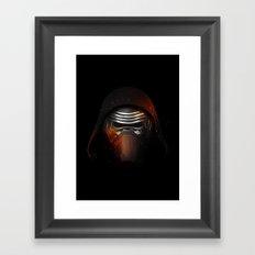 Kylo Ren Shadow Framed Art Print
