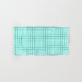 Grid Pattern - aqua and teal - more colors Hand & Bath Towel
