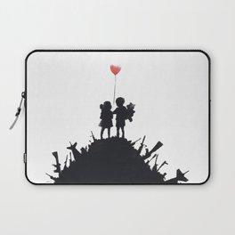 Banksy Two Children With Love Balloon At War Destruction Garbage, Streetart Street Art, Grafitti, Ar Laptop Sleeve
