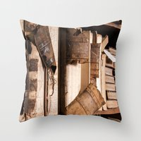 england Throw Pillows featuring Pictorial England by mofoto