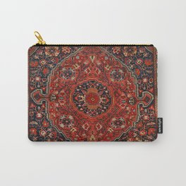 Persian Joshan Old Century Authentic Colorful Red Rusty Blue Vintage Rug Pattern Carry-All Pouch