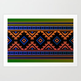 Carpet pattern Art Print