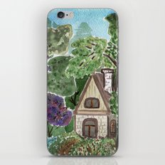 House in the garden . watercolor . iPhone & iPod Skin