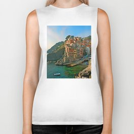 Italy. Cinque Terre - Canal side Biker Tank