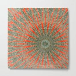 Stranger Clock Whirlwind Kaleidoscope Rewhirled Mandala Metal Print