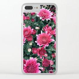 Autumn Mums Clear iPhone Case