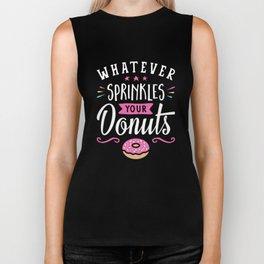 Whatever Sprinkles your Donuts v2 Biker Tank