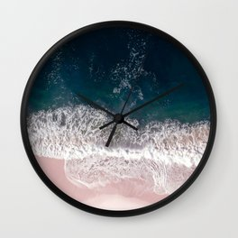 Sands of Pearly Pink Wall Clock