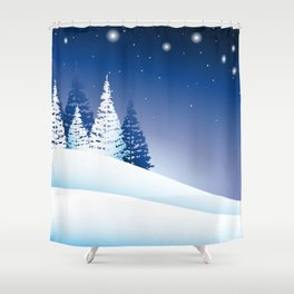 winternight Shower Curtain