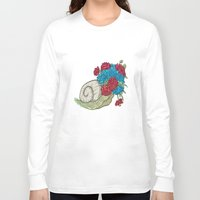 snail Long Sleeve T-shirts featuring Snail by Guapo