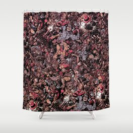 Infinite Battle Of Quantum Stacked SurReality Shower Curtain