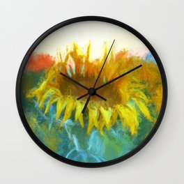 Sunflower Glow Wall Clock