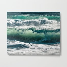 Wild waves Metal Print