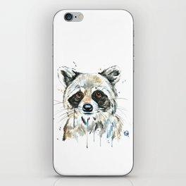 Peekaboo Raccoon iPhone Skin