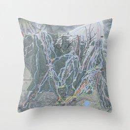 Snowmass Resort Trail Map Throw Pillow