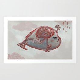 Brain Fish Art Print