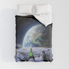 Astronaut on the Moon with beer Comforters