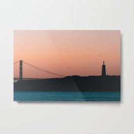 25th April Bridge at Sunrise  Metal Print