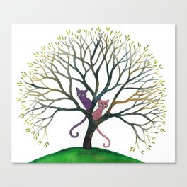 Maryland Whimsical Cats in Tree Canvas Print