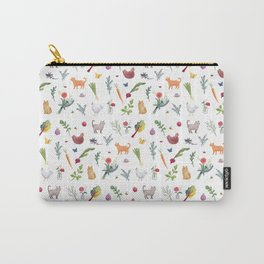 Farmstand Pattern Carry-All Pouch