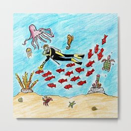 So Much To Sea Metal Print