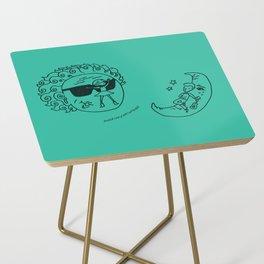 Sun & Moon, Aqua Side Table
