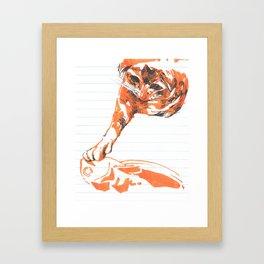 touch da fishy Framed Art Print