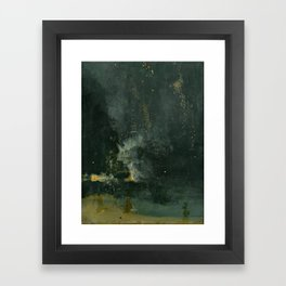 James Abbott McNeill Whistler - Nocturne in Black and Gold Framed Art Print