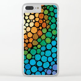 Blissful - Colorful Mosaic Art - Sharon Cummings Clear iPhone Case