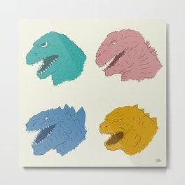 Godzilla Evolution Metal Print