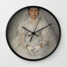 Jules Bastien-Lepage - La petite communiante Wall Clock