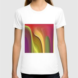 Tall And Short Colorful Abstract T-shirt