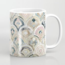 Art Deco Marble Tiles in Soft Pastels Coffee Mug