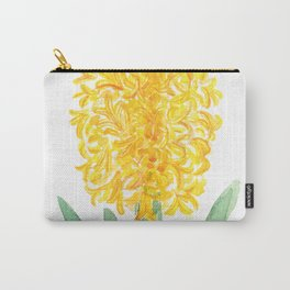 yellow hyacinth watercolor Carry-All Pouch