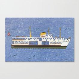 Bateau à vapeur Istanbul Canvas Print