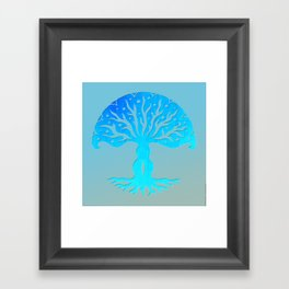 Tree of Life Woodcut Framed Art Print