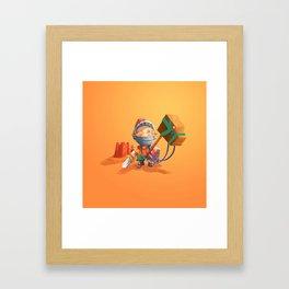 Knight Boy Framed Art Print