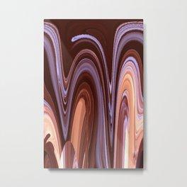 Terracotta Waves Metal Print