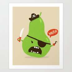 Pear-ate a.k.a The Angry Pirate Art Print