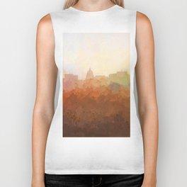 Madison, Wisconson Skyline - In the Clouds Biker Tank